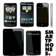 Smart phones  set - Stockvectorbeeld