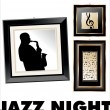 Jazz musician background — Stock Vector #6289135