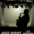 Jazz musician background — Stock Vector #6289141