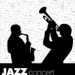 Jazz musician background - Stock Vector