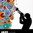 Jazz musician background - Stok Vektör