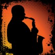 Jazz musician background - Image vectorielle