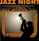 Jazz musician background — Stock Vector