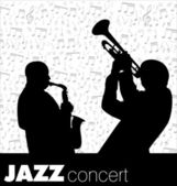 Jazz musician background — Stockvector
