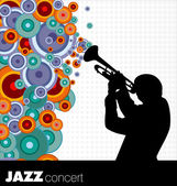 Jazz musician background — Stock Vector
