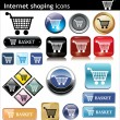 Internet shopping e commerc — Imagen vectorial