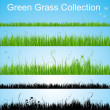 Stock Vector: Vector grass collection