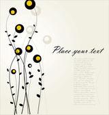 Kwiatów w tle — Wektor stockowy
