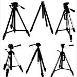 Camera tripods — Stock Vector