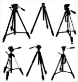 Camera tripods — Stock Vector