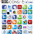 Social media icons — Stock vektor