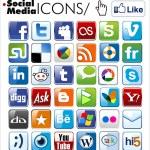 Social media icons — Stock Vector