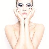 красивая молодая девушка с косметикой, фэнтези — Стоковое фото