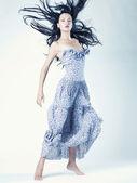 Portrait of beautiful dancing woman — Stock Photo