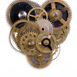 The mechanical heart made of small parts — Stok fotoğraf