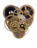 The mechanical heart made of small parts — Stock fotografie