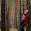 Young alone women in forest — Stock Photo #6274556