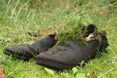 Wery oude laarzen — Stockfoto