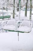 冬公園のシーン — ストック写真