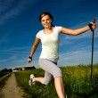 Nordic walking — Stock Photo #6032676