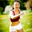 Stock Photo: Jogging woman