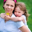 Mother and daughter portrait — Stockfoto