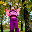 Little girl in the autumn park — Stock Photo #6100624