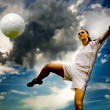 Football girl — Stock Photo