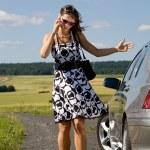 女人的车 — 图库照片