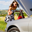 Woman and the car accident - Photo