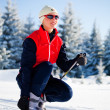 Cross-country skiing — ストック写真