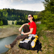 Hiking woman — Stock Photo #6101551
