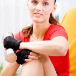 Gym girl — Stock Photo