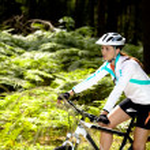 Cycling woman — Stock Photo #6101593