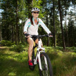 Biking woman — Stock Photo #6101600