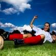 Soccer girl — Stock Photo