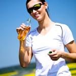 Jogging woman — Stock Photo