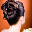 Bride hairstyle - Stok fotoraf