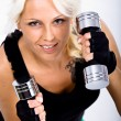 Gym girl — Stock Photo