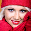 Stock Photo: Woman with wool scarf