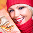 Woman with wool scarf — Stock Photo #6108320