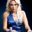 Poker girl - Stock Photo