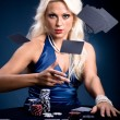 Poker girl — Stock Photo