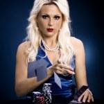 Poker girl — Stock Photo