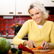Woman with vegetable — Stockfoto