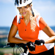 Cycling woman — Stock Photo #6108489