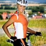 Cycling woman — Stock Photo #6108491