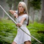 Amazon girl — Stock Photo