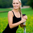 Nordic walking — Stock Photo #6108957