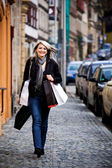 Shopping in the city — Foto de Stock
